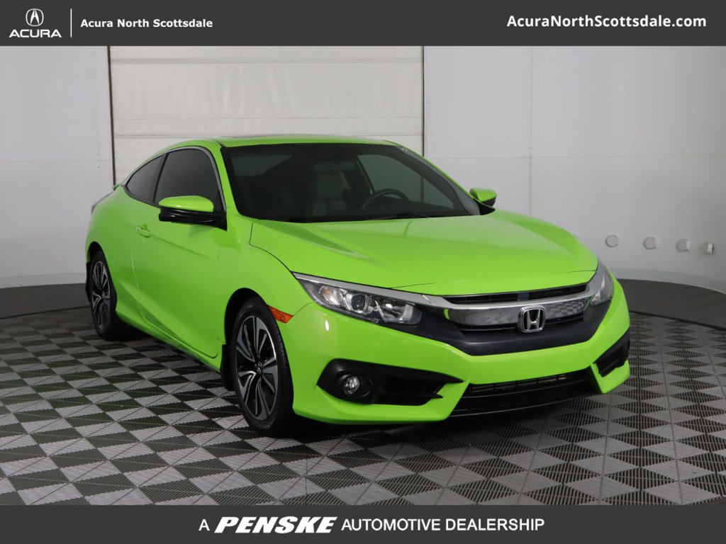 Pre-Owned 2016 Honda Civic Coupe 2dr CVT EX-T